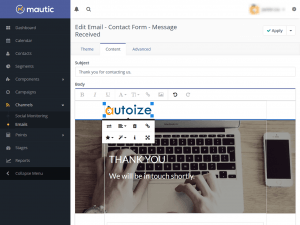 mautic-email-editor