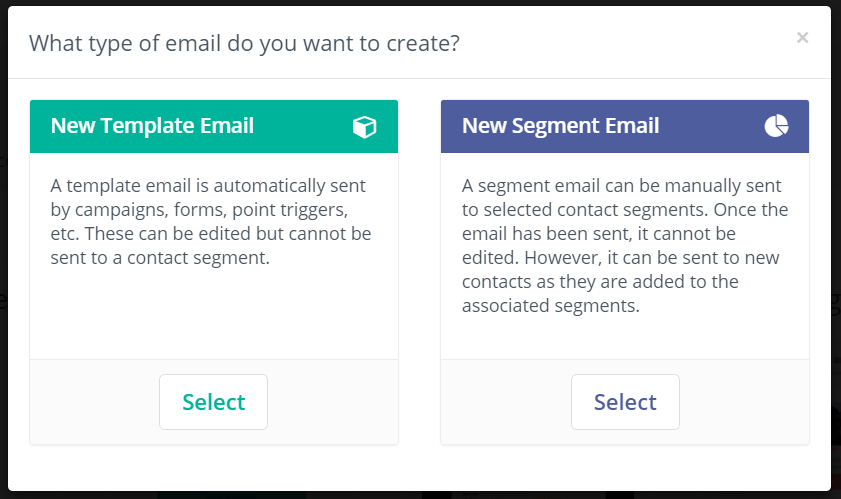 Mautic Template vs Segment Email