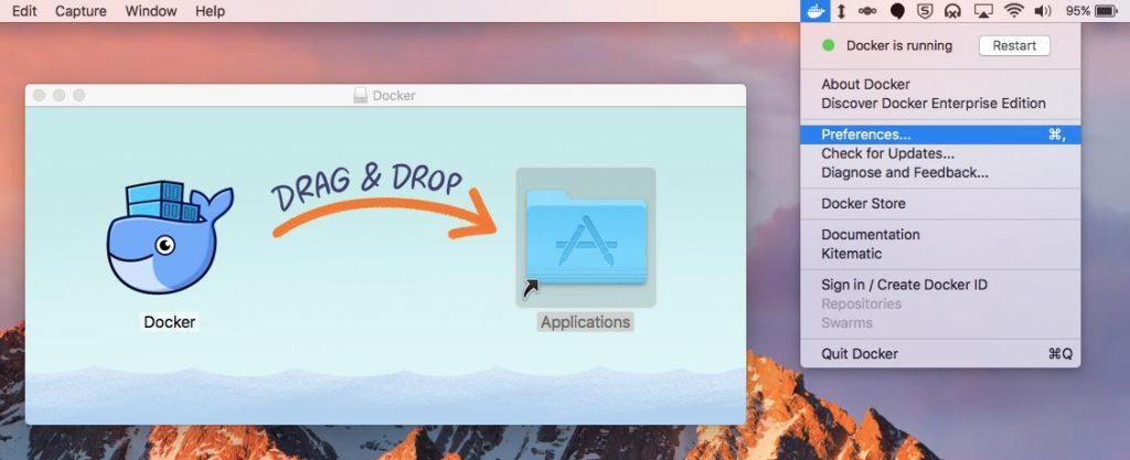 Docker for Mac screenshot
