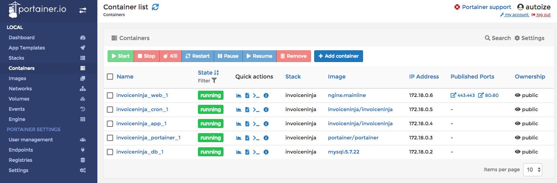 InvoiceNinja Docker Stack