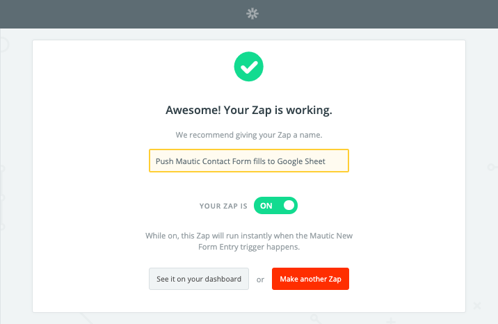 Zapier Enable Mautic Zap