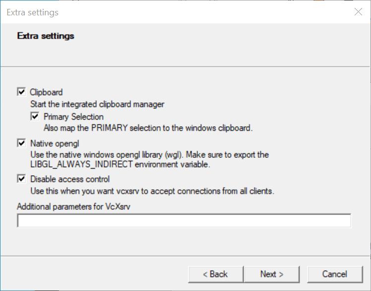Xfce4 Desktop Environment and X Server for Ubuntu on WSL 2