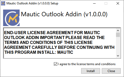 Mautic Outlook Add-in Installer