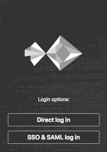 NextCloud login page with SSO & SAML option