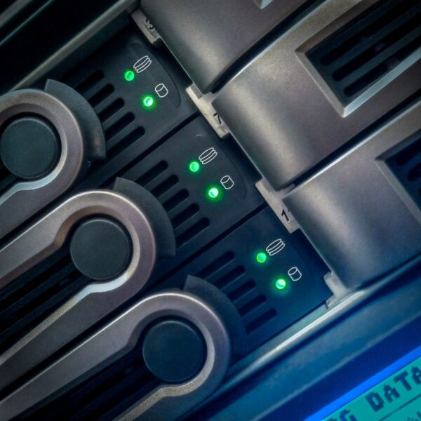 Disk activity on datacenter rack
