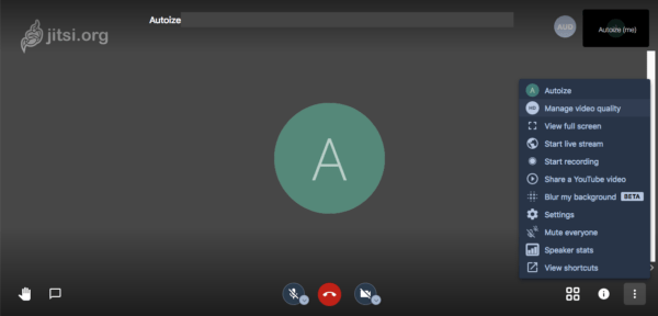 Jitsi Voice & Video Meeting Interface