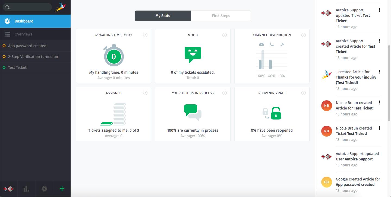 Zammad Open Source Helpdesk screenshot